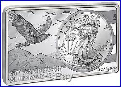2016 AMERICAN EAGLE 30th ANNIVERSARY SILVER INGOT & COIN 3oz Silver Set