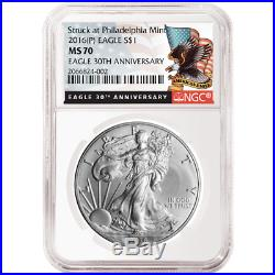 2016 (P) $1 American Silver Eagle NGC MS70 Black Label