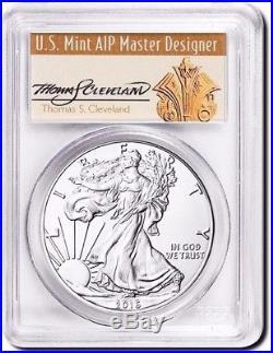 2016 (P) $1 Silver Eagle PCGS MS70 STRUCK AT PHILADELPHIA Thomas Cleveland