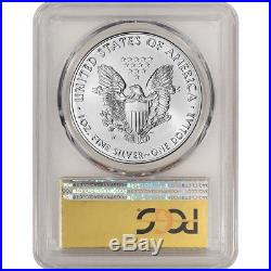 2016-W American Silver Eagle Burnished PCGS SP70 First Strike Gold Foil Label