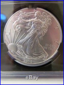 2016-W Burnished American Silver Eagle NGC MS70 1st Day Issue 30th Anniversary