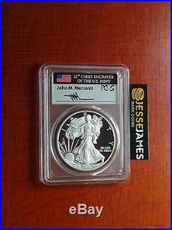 2016 W Proof Silver Eagle Pcgs Pr70 Dcam Flag Mercanti First Strike 1 Of 250