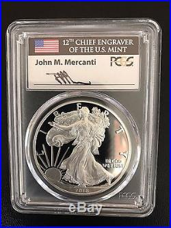 2016 W Proof Silver Eagle Pcgs Pr70 Mercanti First Day Issue 3 Coin Cities Set