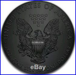 2017 1 Oz Silver $1 GLOW IN THE DARK, ALIEN EAGLE Ruthenium Coin