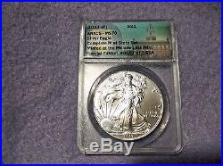 2017 ANACS MS70 PSW 2017 Silver Eagle Complete Mint Rare State Set W Velvet Case