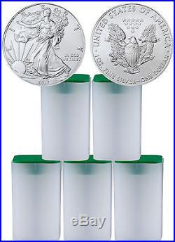 2017 American Silver Eagle 5 Rolls of 20 (100 Coins) PRESALE SKU44366