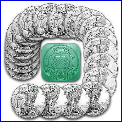2017 Roll of 20 Silver American Eagles 1 oz each (20) count. In roll. Last ones
