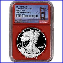 2017-S American Silver Eagle Proof NGC PF70 UCAM Early Releases Golden Gate R