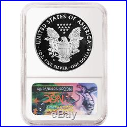2017-S Proof $1 American Silver Eagle Congratulations Set NGC PF69UC Blue ER Lab