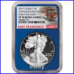 2017-S Proof $1 American Silver Eagle Congratulations Set NGC PF70UC Trolley ER
