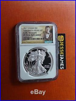 2017 S Proof Silver Eagle Ngc Pf70 Ultra Cameo Early Releases Jesse James Label