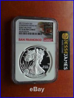 2017 S Proof Silver Eagle Ngc Pf70 Ultra Cameo Er From Congratulations Set