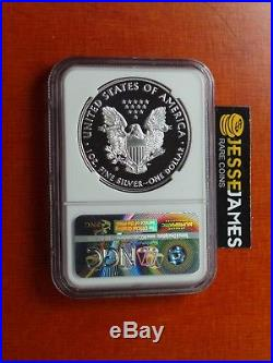 2017 S Proof Silver Eagle Ngc Pf70 Ultra Cameo From Limited Edition Set Trolley