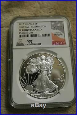2017 W American Silver Eagle PF70 UC FDI 3 Cities Mercanti Jeppson Jones Moy