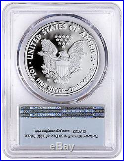 2017-w $1 Proof Silver Eagle Pcgs Pr70 Dcam Flag First Day Of Issue 1 Of 1000