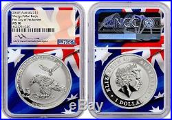 2018 Australia Wedge Tail Silver Eagle NGC MS70 FIRST DAY OF PRODUCTION MERCANTI