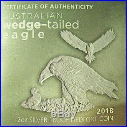 2018-P $2 Australia Wedge-Tailed Eagle 2 Oz Silver Piedfort NGC PF70 UC Mercanti