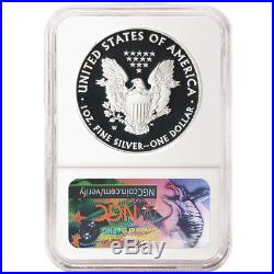 2018-W Proof $1 American Silver Eagle 3 pc. Set NGC PF70UC Black ER Label Red Wh