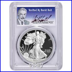 2018-W Proof $1 American Silver Eagle PCGS PR70DCAM David Hall Signature First S