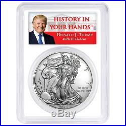Set PCGS MS70 Trump Label Red White Blue 2019 $1 American Silver Eagle 3pc