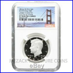 2019 Limited Edition Silver Proof NGC PF70 S Mint Eagle & Kennedy pair FDOR