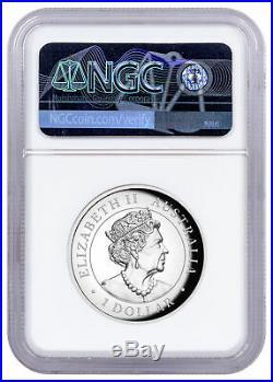 2019 P Australia 1 oz Silver HR Wedge-Tailed Eagle NGC PF70 UC Mercanti SKU57173