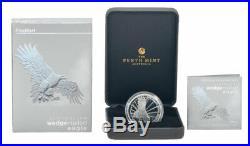 2019 P Australia 2 oz Silver Wedge-Tailed Eagle Piedfort $2 Proof OGP SKU58068