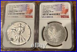 2019 Pride of Two Nations Set NGC PF70 Early Release Reverse Silver Eagle Maple