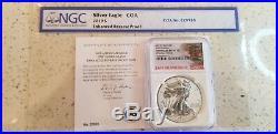 2019 S $1 Enhanced Reverse Silver Eagle Ngc Pf70 First Release Pr 70 Error Coa