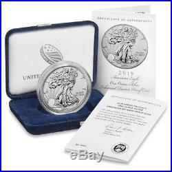 2019 S $1 Silver Eagle Enhanced Reverse Proof PR70 PCGS 19XE FS/COA #08919
