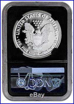 2019 S 1 oz Proof Amer Silver Eagle NGC PF70 UC FDI Blk Trolley PRESALE SKU58783