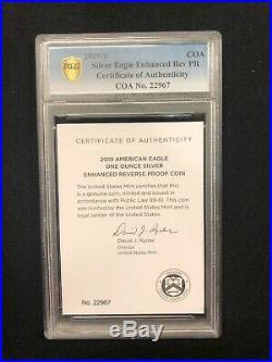 2019 S American Eagle 1 Oz Silver Enhanced Reverse Proof FIRST STRIKE PCGS PR69