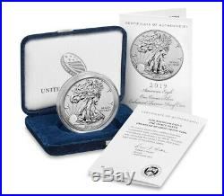 2019-S American Eagle One Ounce Silver Enhanced Reverse Proof Coin 19XE UNOPENED