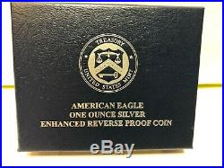 2019-S ENHANCED REVERSE PROOF SILVER EAGLE NGC PF70 with COA # 02173 BROWN LABEL