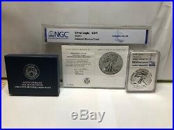 2019-S Enhanced Reverse Proof $1Early Release Silver Eagle / COA NGC PF-70