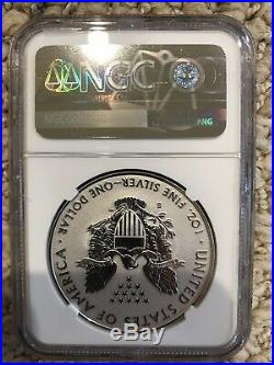2019-S Enhanced Reverse Proof $1 American Silver Eagle First Strike PF70 With COA
