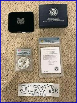 2019-S Enhanced Reverse Proof $1 American Silver Eagle First Strike PR70 With COA
