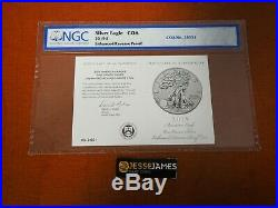2019 S Enhanced Reverse Proof Silver Eagle Ngc Pf70 First Releases Coa # 24031