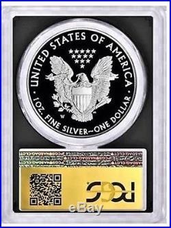 2019-W $1 Proof Silver Eagle PCGS PR70 FDOI CONGRATULATIONS Gold Foil FUN SHOW