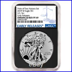 2019-W Reverse Proof $1 American Silver Eagle NGC PF69 Blue ER Label Retro Core