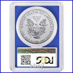 2019-W Reverse Proof $1 American Silver Eagle PCGS PR70 FDOI Dual Flag Label Blu