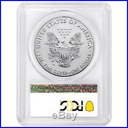 2019-W Reverse Proof $1 American Silver Eagle PCGS PR70 FS Dual Flag Label Pride