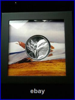 2020 1oz. 999 Fine Silver Togrog Mongolia Majestic Eagle Proof Coin 2500 mintage