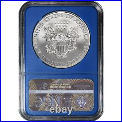 2020 (P) $1 American Silver Eagle NGC MS70 Emergency Production Trump Label Blue