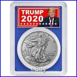 2020 (P) $1 American Silver Eagle PCGS MS70 Emergency Production FDOI Trump 2020
