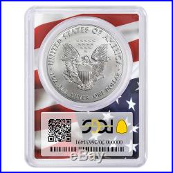 2020 (P) $1 American Silver Eagle PCGS MS70 Emergency Production FS Trump 45th P