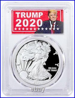 2020 S Proof American Silver Eagle San Francisco Issue PCGS PR70 DCAM Trump 2020