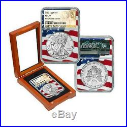 2020 Silver Eagle NGC MS70 Limited New Year's Edition in Flag Core Label