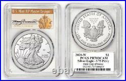 2020-W $1 Proof Silver Eagle V75 Privy PCGS PR70 PR70DCAMI FDOI Thomas Cleveland