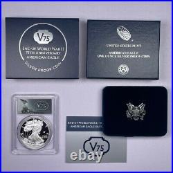 2020 W American Silver Eagle V75 Privy Proof PCGS PR70 DCAM With OGP/COA